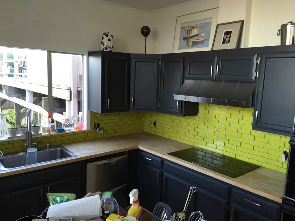 Install Chartreuse Tiles