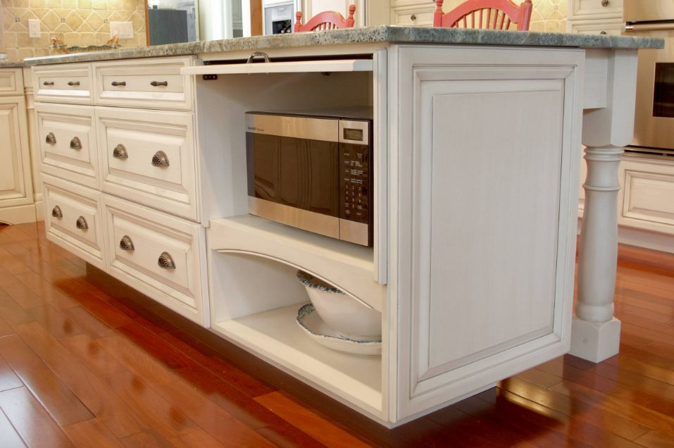 How A Microwave Shelf Can Improve Your Overall Kitchen ... Ideas For Kitchen Hidden Microwave on kitchen hidden sink, kitchen hidden storage, kitchen hidden pantry,