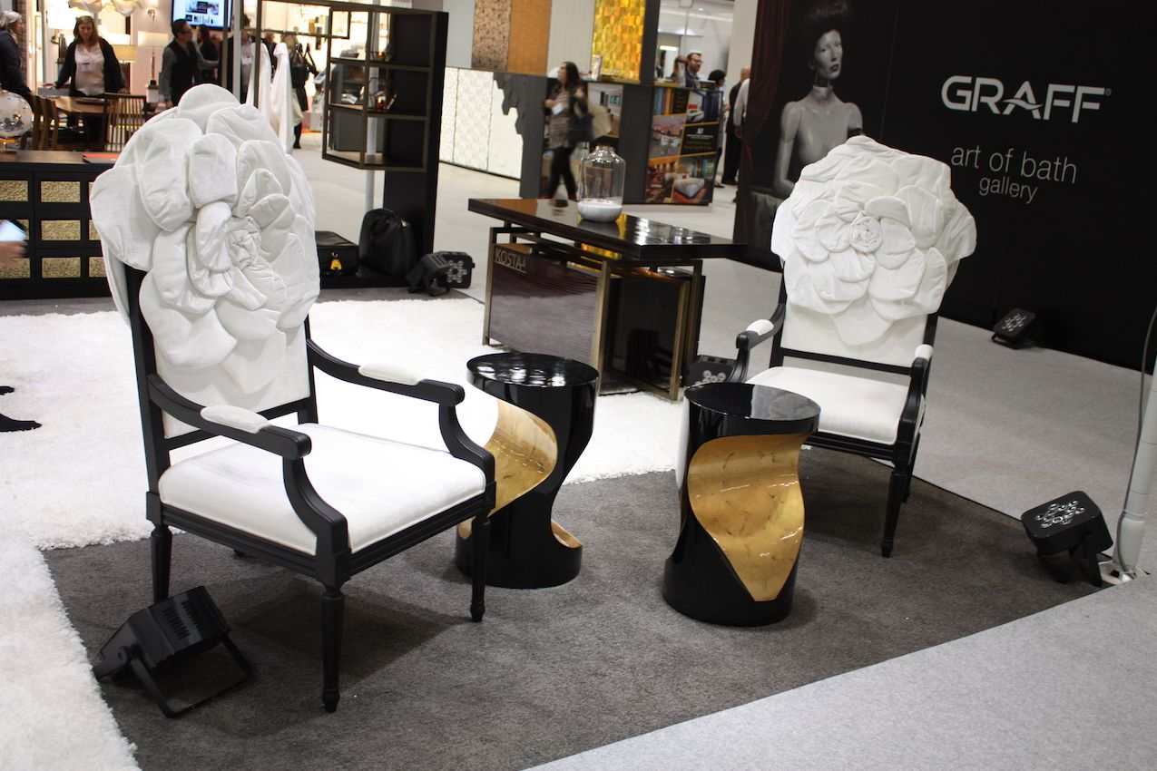 Paired with contemporary side tables, the cool designs remain elegant.