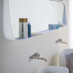 Large fonte design mirror with shelf