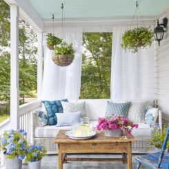 Large porch hanging planters