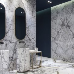 Luxury bathroom full in marble