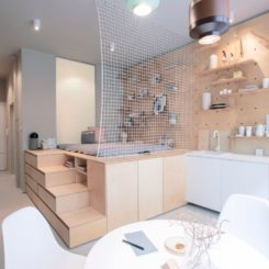 Position Collective 30 square metre apartment open space