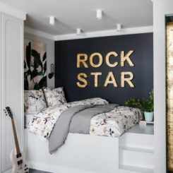 Rock star small bedroom design