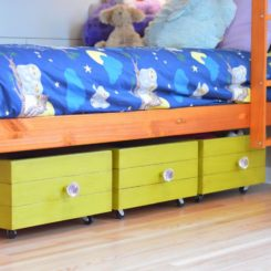 Rolling Toy Boxes Made From Drawers