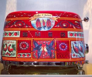 The Dolce & Gabbana toaster is a small luxury for the kitchen.