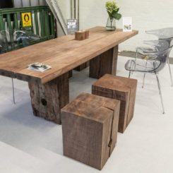 Solid wood dinin table design