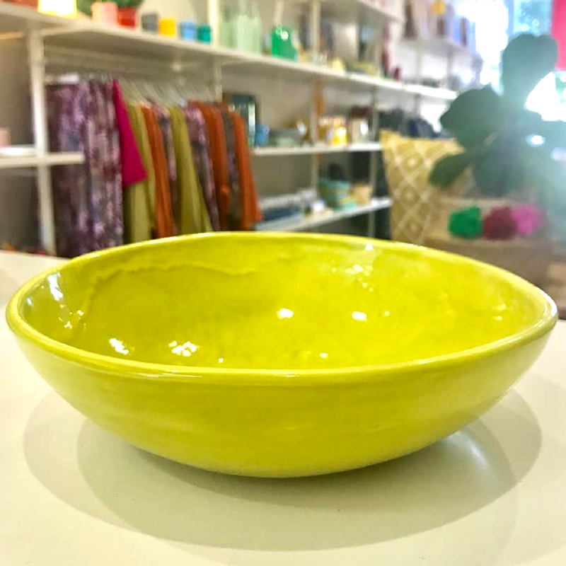 Stick To Small Chartreuse Table Accents