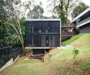 Concrete House Splits In Two To Stay Close To The Forest