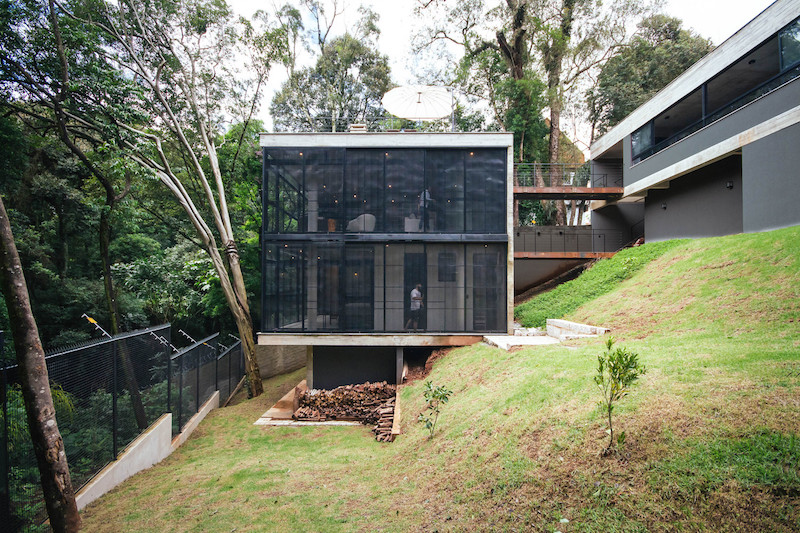 The JJO House is unusual mostly because it's divided into two separate structures