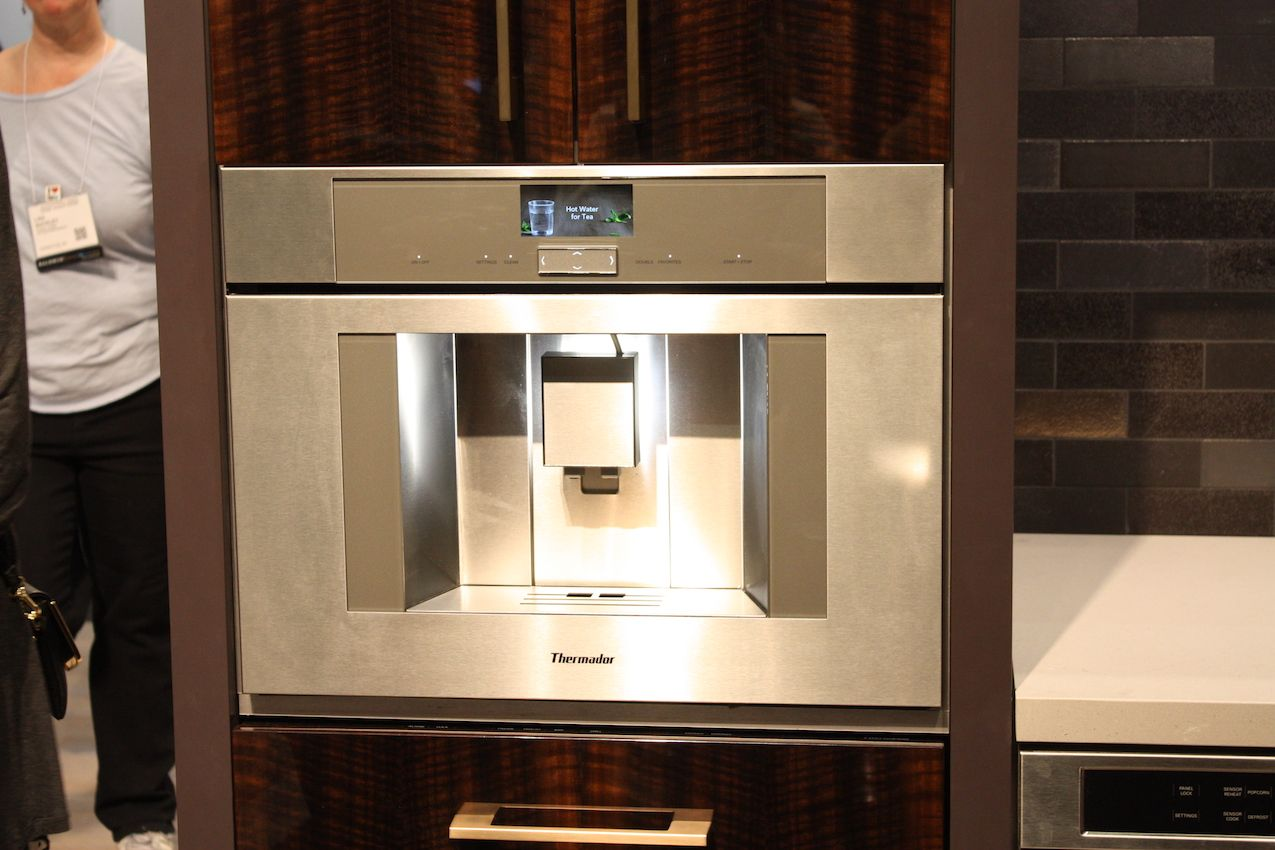 Built-in coffee machines are perfect additions for coffee lovers.