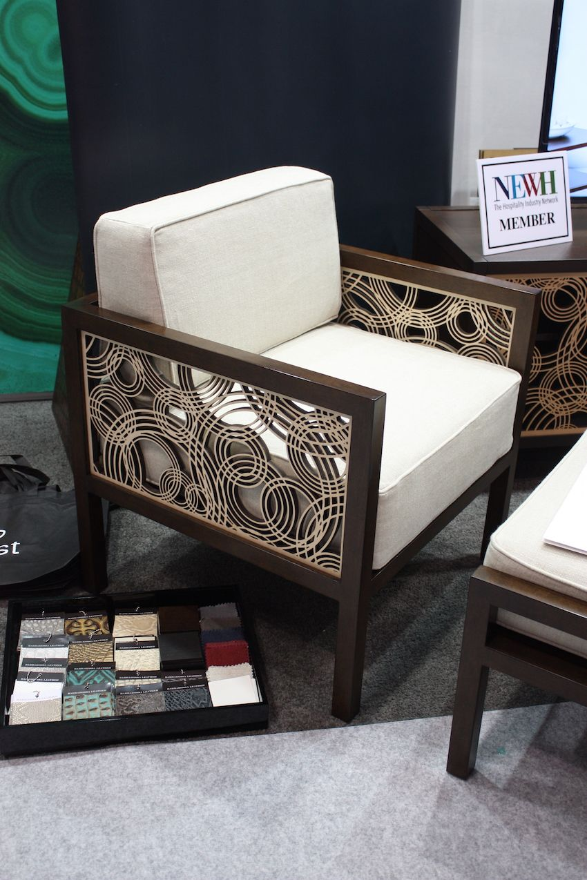 Upholstery options include textiles as well as leather.