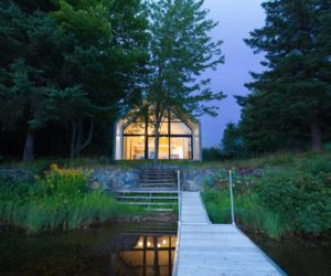A Vacation Cottage Calls A Lakeside Forest Clearing Home