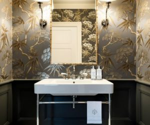 40 powder room ideas to jazz up your half bath. Black Bedroom Furniture Sets. Home Design Ideas