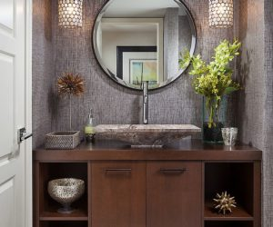 masculine powder room