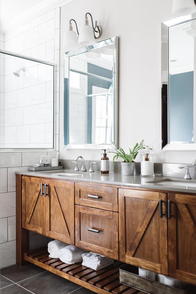 rustic bathroom vanities Barn Door Themed Vanity