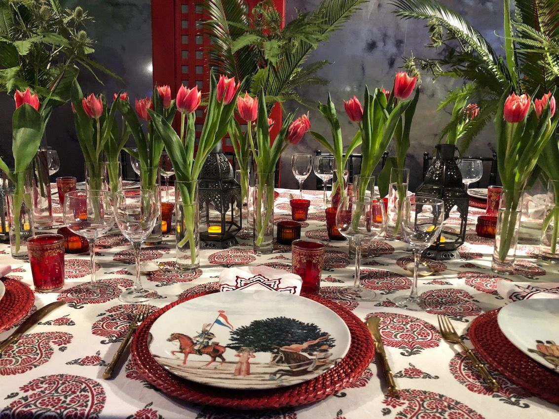 A bold, earthy red hue is perfect for an exotic tablescape.