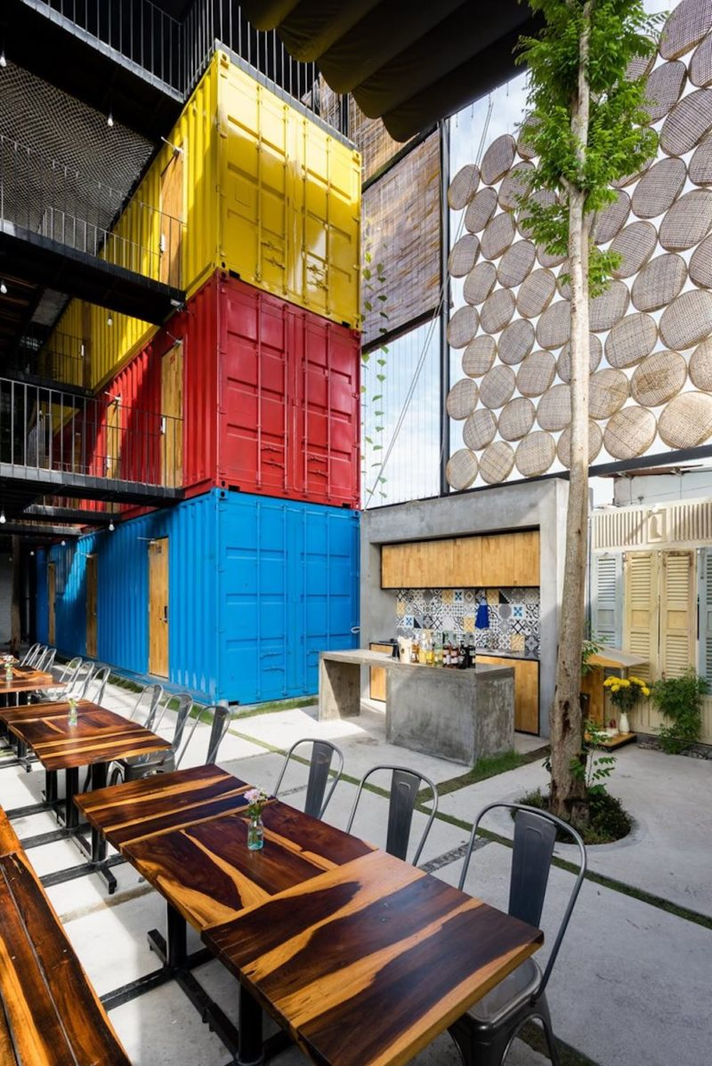 A Hotel For Backpackers With Shared Bedrooms Inside Shipping Containers
