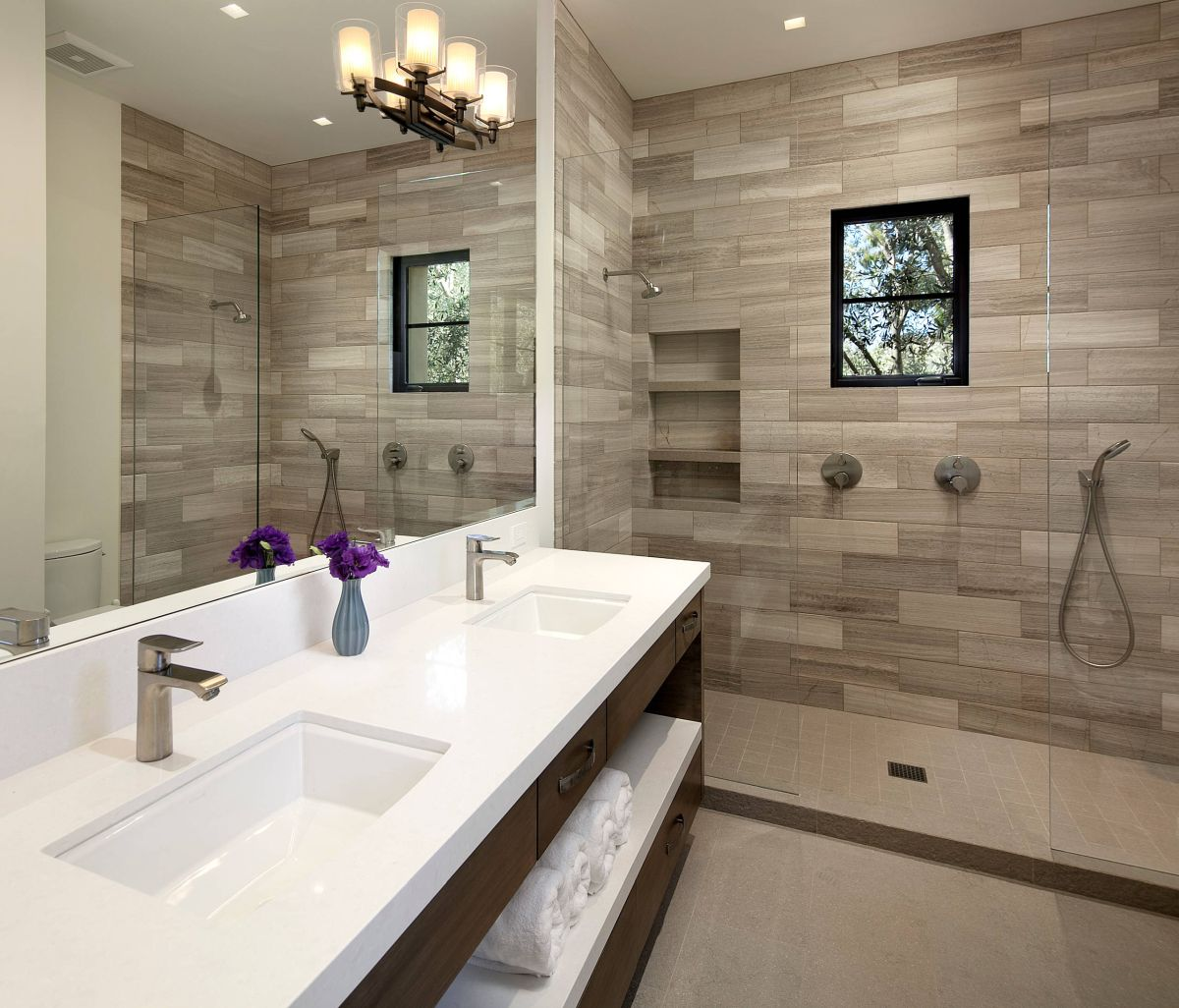 Dark Wood Tile Bathroom: 15 Wood Tile Showers For Your Bathroom