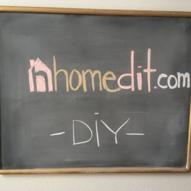 DIY Chalkboard on Glass - Homedit