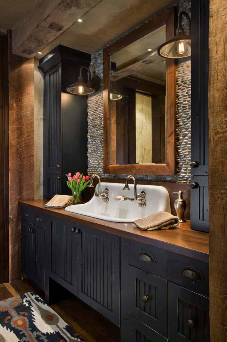 rustic bathroom vanities Farmhouse Vanity in Classic Black