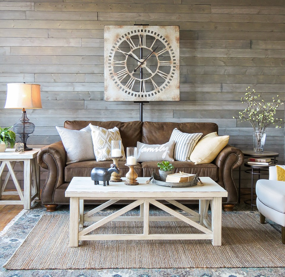 Distressed Farmhouse Living Room: 40 Rustic Living Room Ideas To Fashion Your Revamp Around