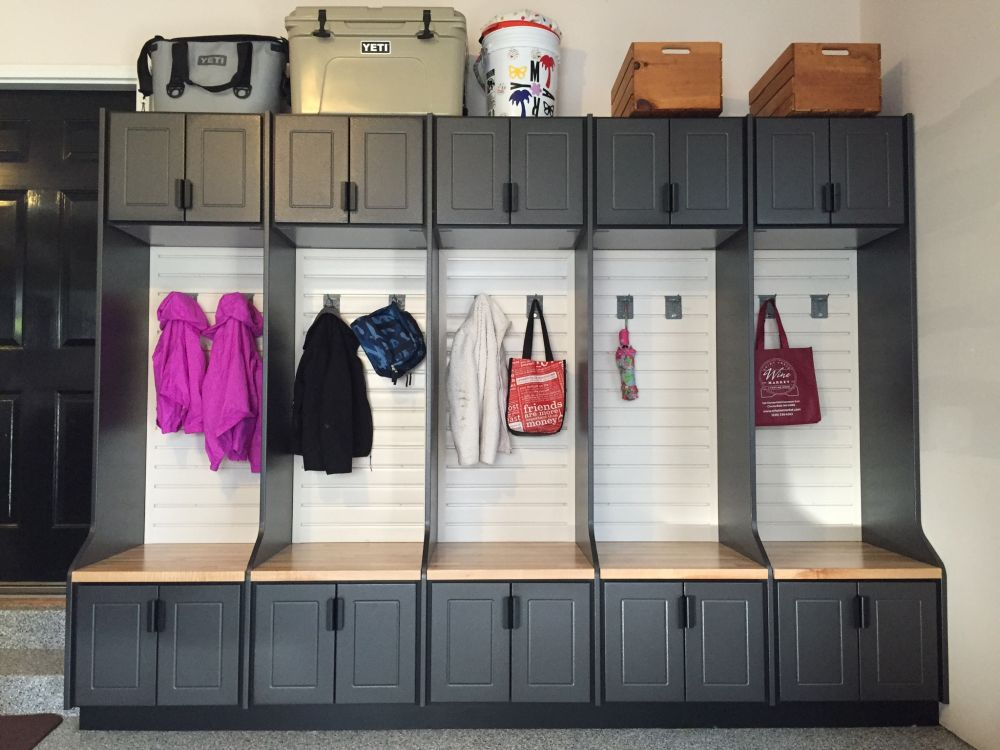 Mudroom Storage Garage : Garage cabinets and other storage tips for the best