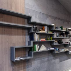 Geometric wall shelves - storage system