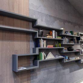 Geometric wall shelves - storage system
