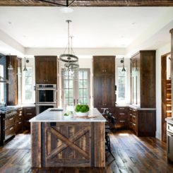 Hardwood kitchen floor design