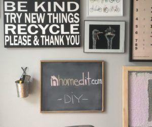 DIY Glass Framed Black Chalkboard Paint
