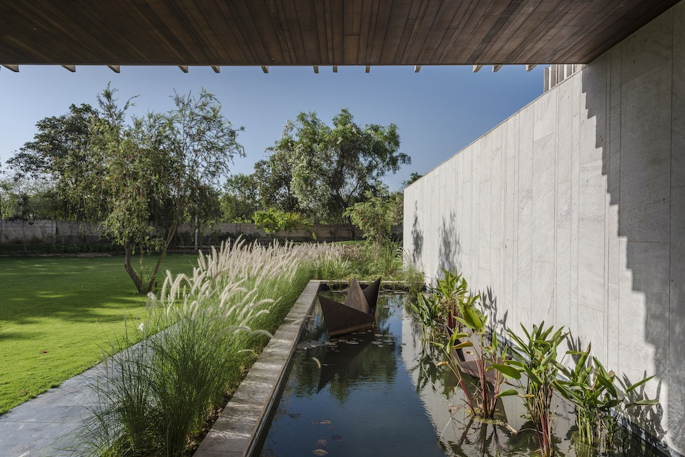 The green areas are also complemented by water features which help to create serene and tranquil spaces
