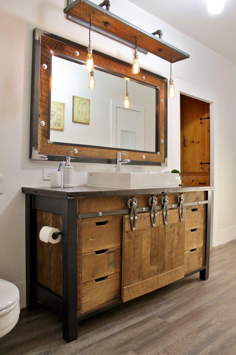 rustic bathroom vanities Industrial Rustic Vanity