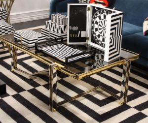 Bold graphic patterns are a good way to add pop to a room.