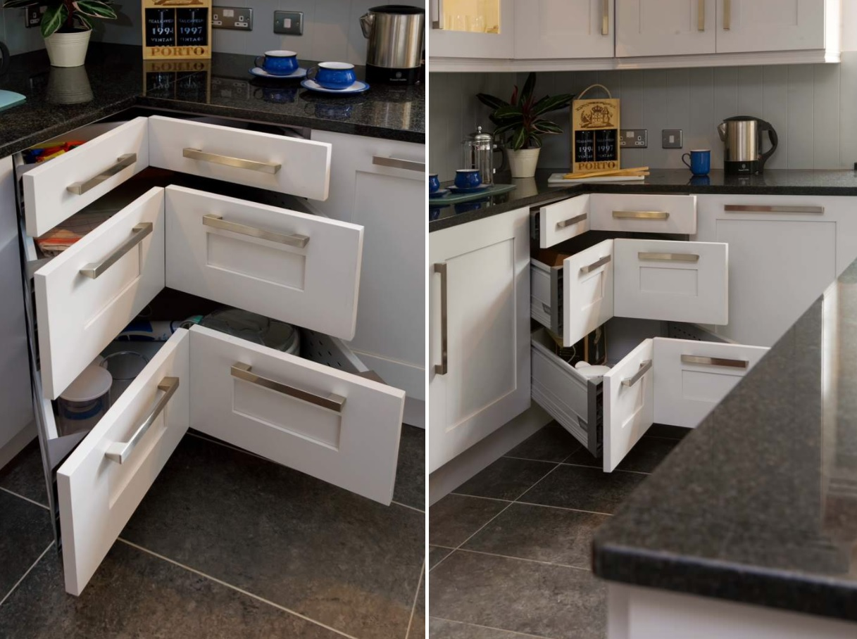 Corner Drawers Kitchen Cabinets 20 Corner CabiIdeas That Optimize Your Kitchen Space