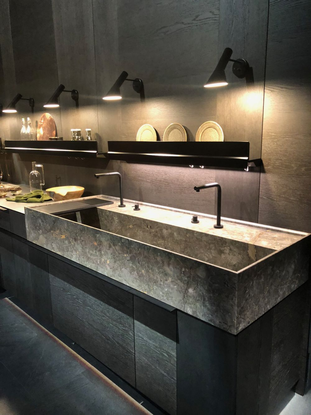 exclusive sink and cabinets in ultramodern kitchen | EuroCucina 2018 Shows New Trends For Modern And Luxury ...