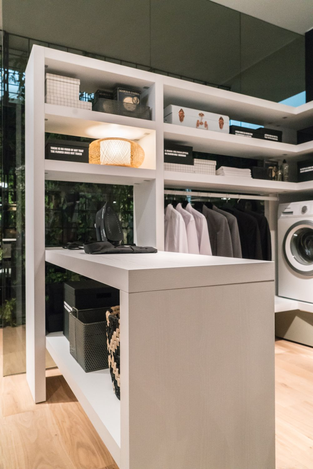 Laundry rooms and dressings are spaces which can make the most out of any shelving idea
