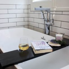 Modern bath table tray