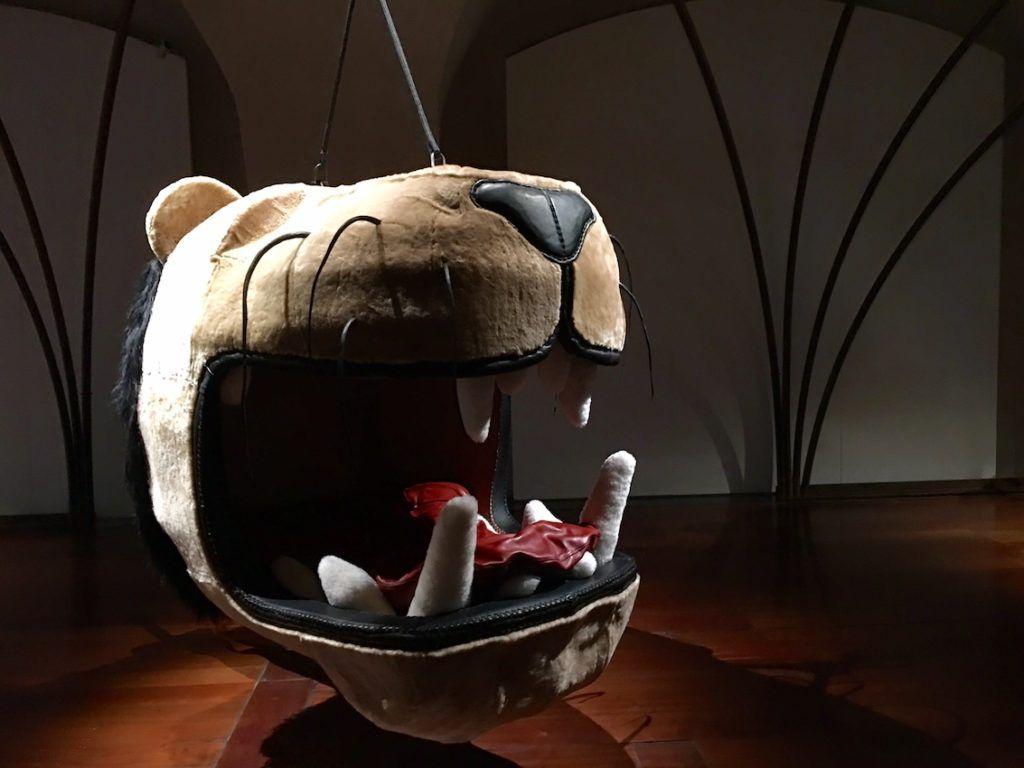 Dieser Löwe stammt von der ersten Londoner Design Biennale im Somerset House.