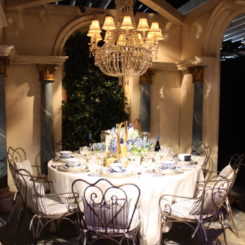 Ralph Lauren dining setting decor