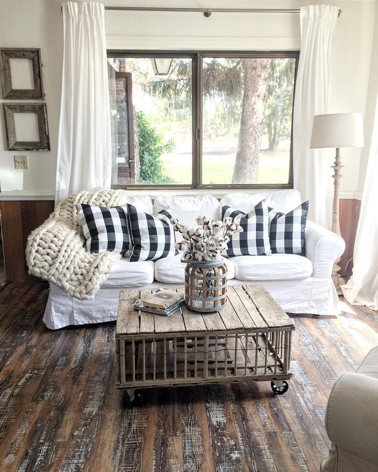 farmhouse decor farmhouse style living room decor split modern apartment decorating ideas 27. With Buffalo Check