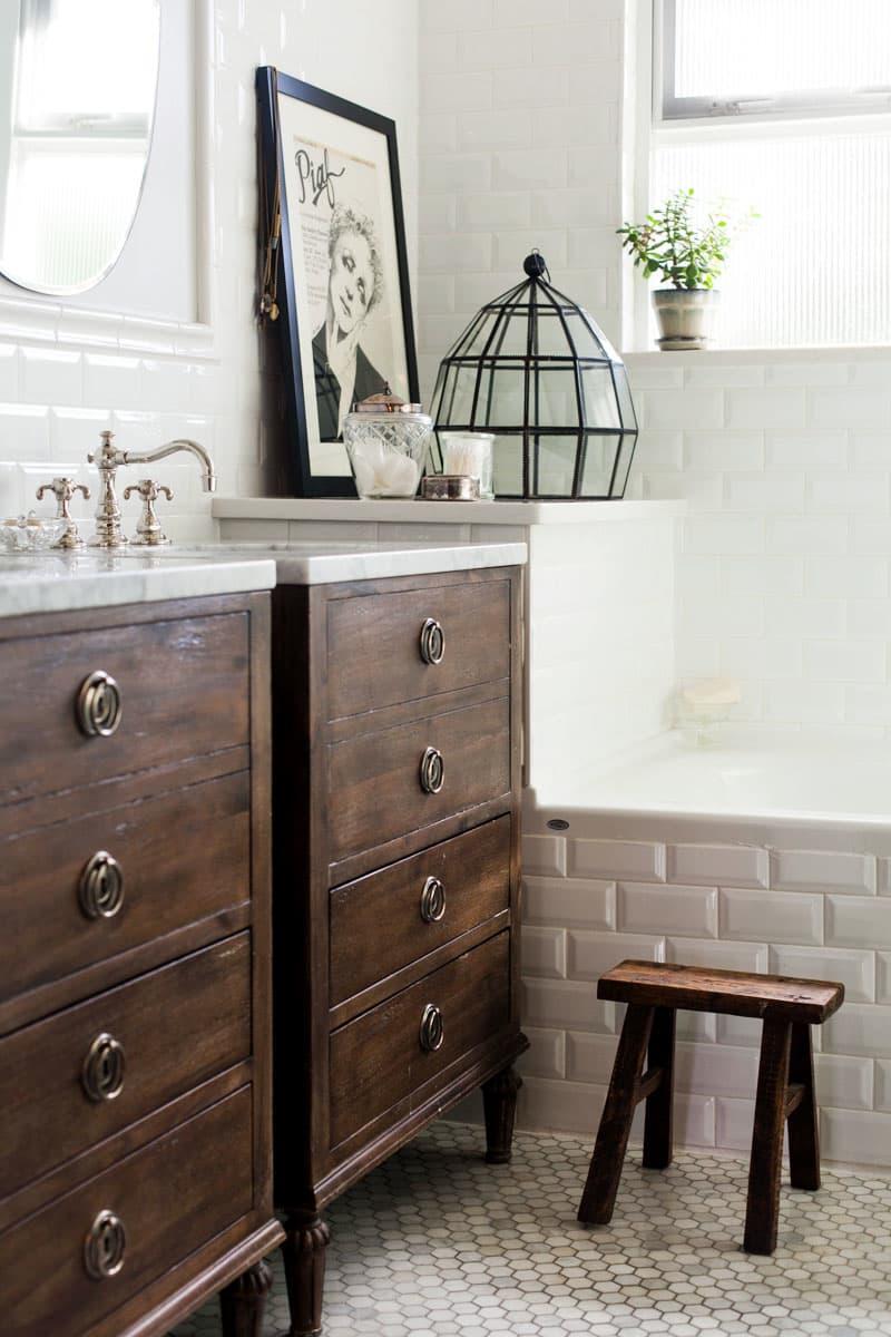 rustic bathroom vanities Rustic Style Dresser Turned Vanity