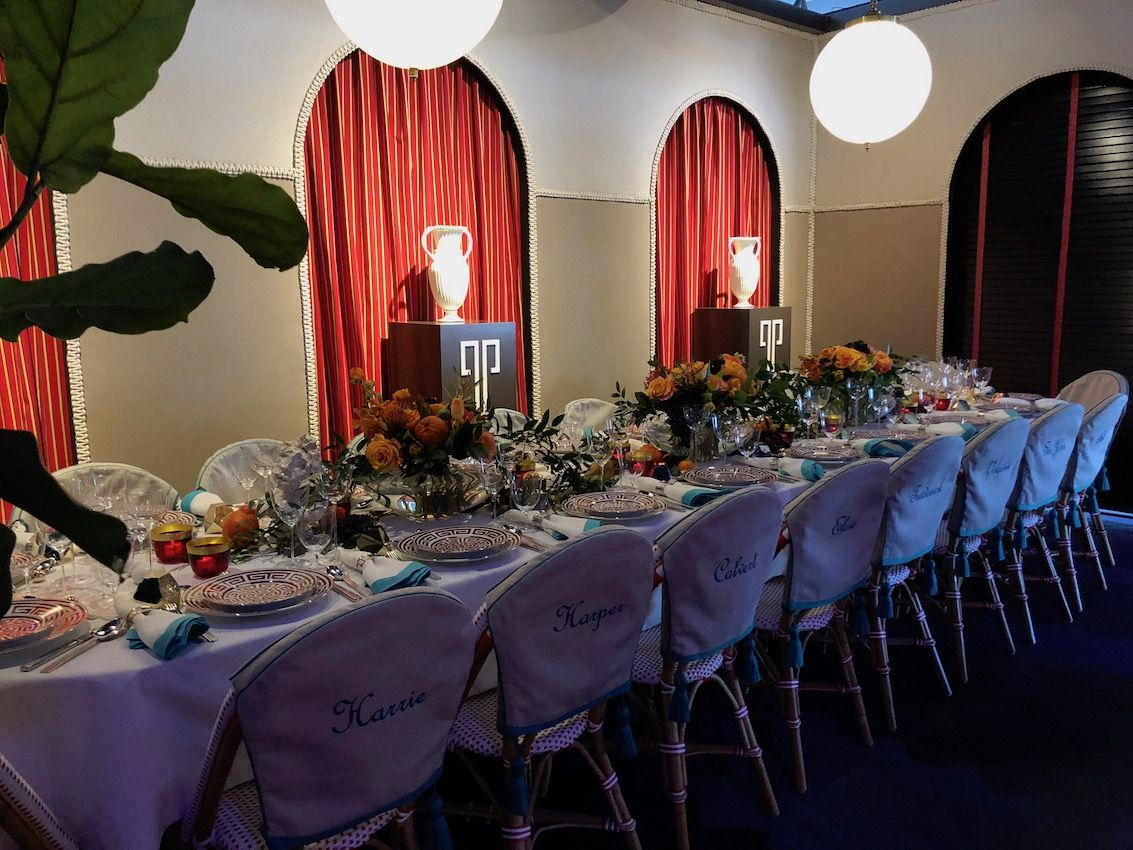Try adding a touch of something different to a traditional formal setting.