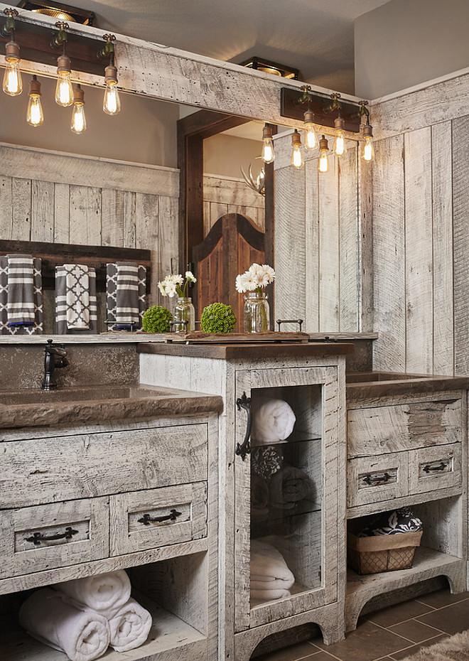 rustic bathroom vanities Tri-Level Maximum Storage Vanity