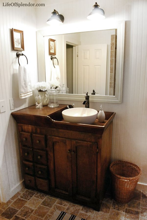 rustic bathroom vanities Unique Vanity With Plenty of Drawers