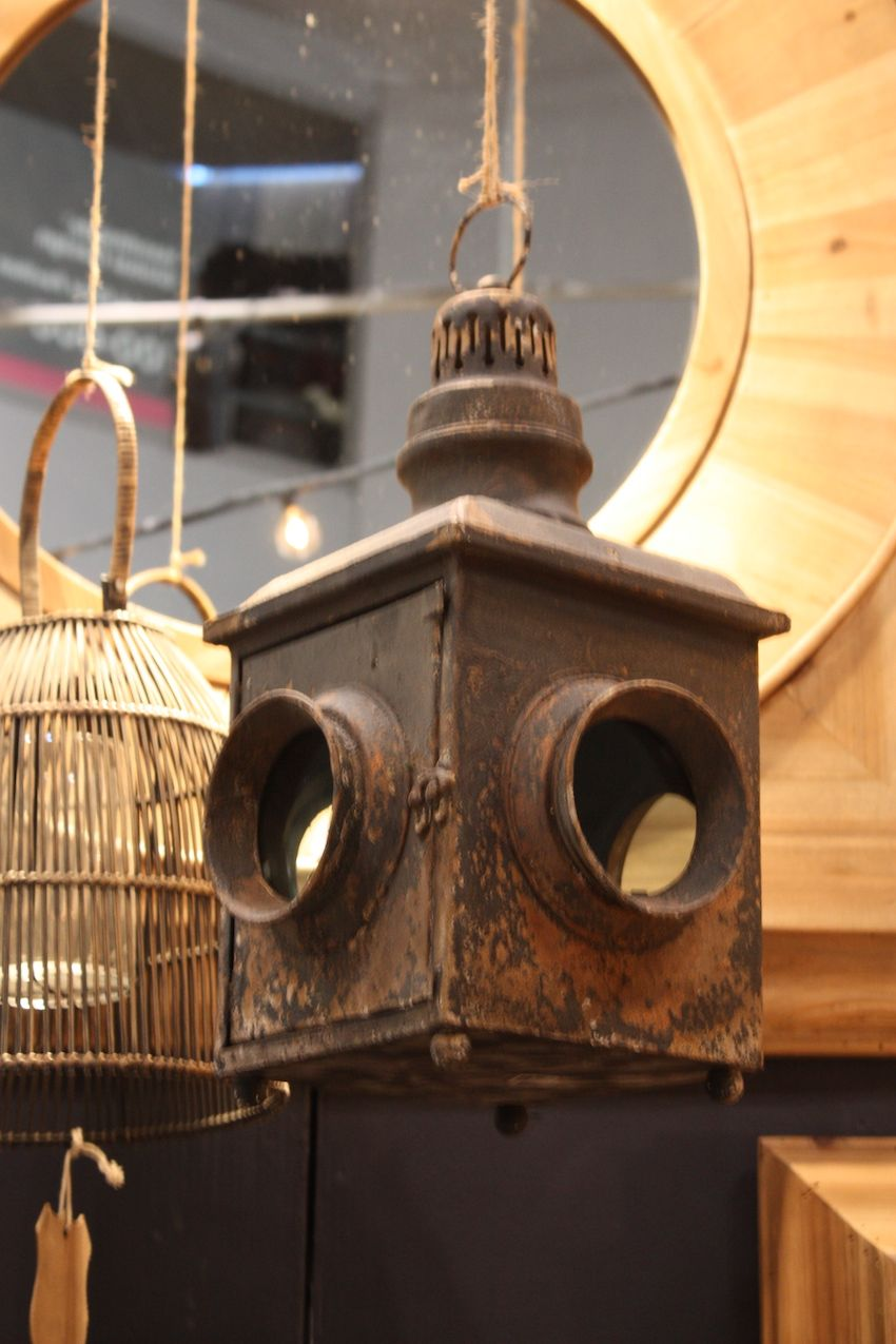 Weathered or not, vintage lighting fixtures are very popular.