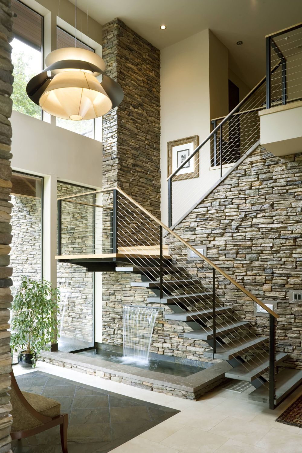 Charmant View In Gallery. An Interior Stone Wall ...