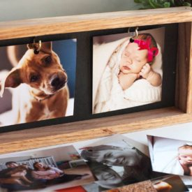 Wood box picture frame DIY