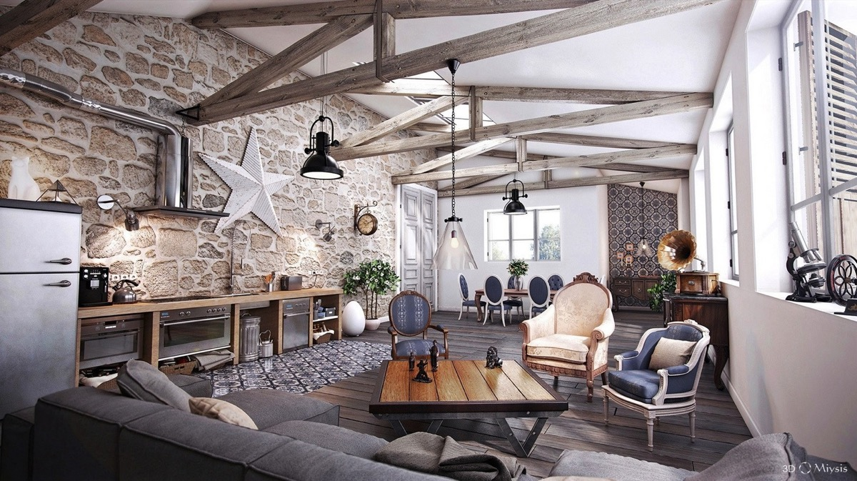 Rustic Looking Living Room Ideas