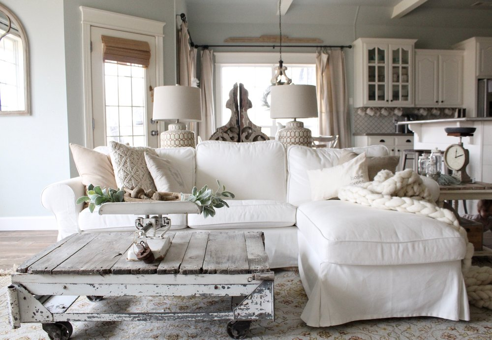 Cream Wood Living Room Furniture